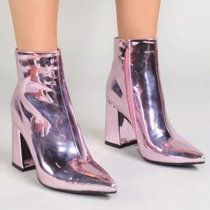 PUBLIC DESIRE | Empire Pointed Toe Ankle Boots